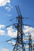 Electrical transmission towers — Stock Photo