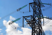 Electrical transmission tower — Stockfoto