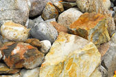 Close-up of different large rocks in pile. — Stock Photo
