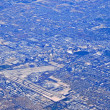 Aerial view of urban sprawl — Stock Photo