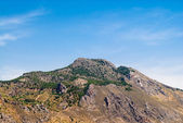 Desert mountain with sparse trees. — Stock Photo