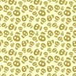 Stock Vector: Seamless halloween pattern with skulls