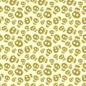 Seamless halloween pattern with skulls — Stockvektor