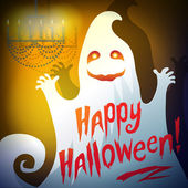 """Illustration of a ghost """"Happy Halloween"""" — Stock Vector"""