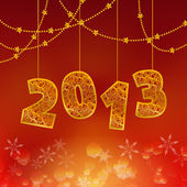 2013 Happy New Year illustration: figures and ropes — Wektor stockowy