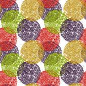 Naadloze cirkel achtergrond, naadloze patroon met ronde vormen — Stockvector