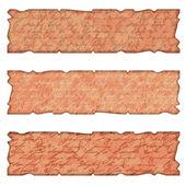 Conjunto de tres recuadro en estilo antiguo — Vector de stock