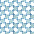 Abstract seamless pattern with blue and green cells - Stock Vector