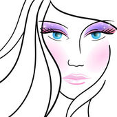Illustration with glamour made-up woman. eps10 — Stockvector