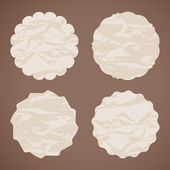 Set of four paper vintage labels. eps 10 — Vector de stock