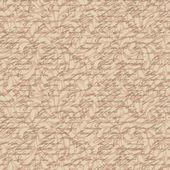 Abstraktní bezešvé ruka psát vzor s florálním ornamentem — Stock vektor
