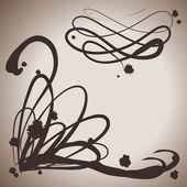 Grunge elegance ink splash elements for design — Stock Vector
