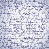 Abstrakta sömlösa hand skriva mönster — Stockvektor