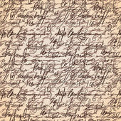 Abstraktní bezešvé ruka psát vzor — Stock vektor