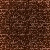 シームレスな茶色エレガンス手書き込みパターン — ストックベクタ