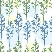 Temiz çiçek süsleme ile sorunsuz soyut desen — Stok Vektör