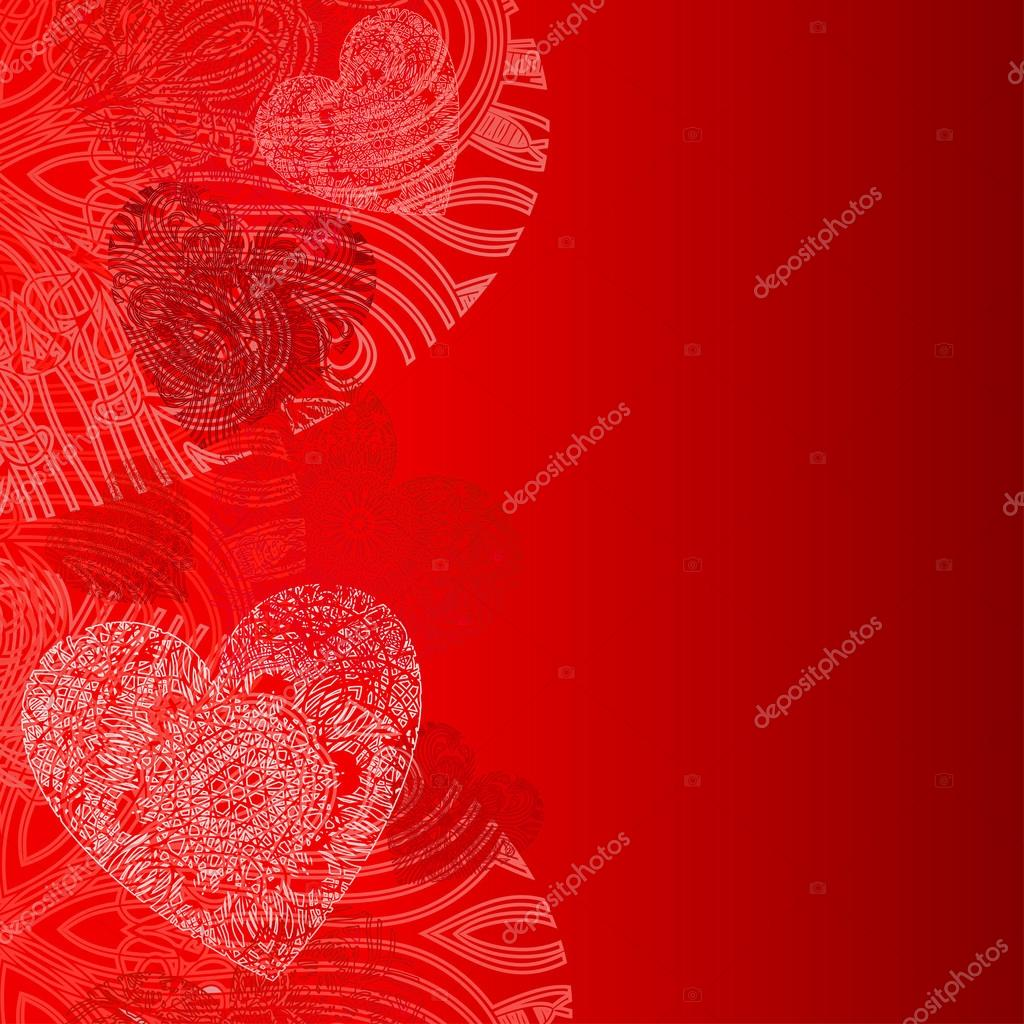 Hearts card with lace hearts — Stock Vector #18760059