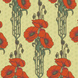 Royalty-Free Stock Vektorfiler: Seamless pattern with poppies.
