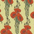 Royalty-Free Stock Vectorielle: Seamless pattern with poppies.