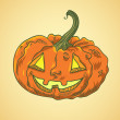 Detailed illustration of halloween pumpkin — Stock Vector
