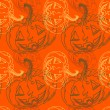 Stock Vector: Seamless halloween pattern with pumpkins