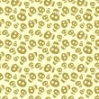 Seamless halloween pattern with skulls — Stock vektor