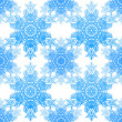Stock Vector: Seamless blue pattern with elegance snowflakes