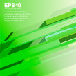 Techno green abstract background - vector illustration — 图库矢量图片