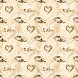 Seamless coffee pattern. Vintage background — Stock Vector