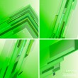 Set of four techno green abstract backgrounds — Stock Vector #26097069