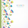Summer background with bright bellflowers — Vector de stock