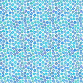 Seamless pattern with little blue flowers — Stock Vector