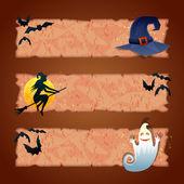 Cadılar bayramı için üç şablonları — Stok Vektör