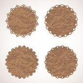 Ensemble de quatre étiquettes vintage en papier. eps 10 — Vecteur