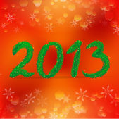 Creative happy new year 2013 design: Christmas tree branches and style background — Vector de stock