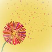 Ilustracja kwiat lato stokrotka — Wektor stockowy