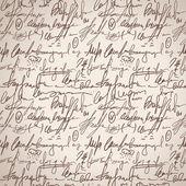 Abstrata sem costura mão escrever padrão — Vetorial Stock