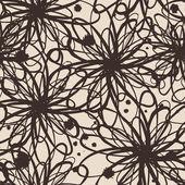 Abstraktní bezešvé eleganci grafický vzor s náčrtky květin — Stock vektor