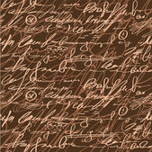 Dikişsiz kahverengi elegance el yazma modeli — Stok Vektör