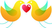 Love bird bird — Stockvector