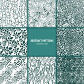 Seamless patterns collection — Stockvektor