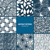 Seamless patterns collection — Stockvector