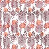 Seamless pattern with flowers, leafs and branches — Stock Vector