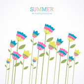 Summer background with bright bellflowers — Stock Vector