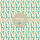 Vintage seamless pattern with round banner — Stockvector
