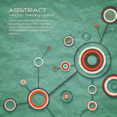 Abstract retro background of science with circles and lines. eps10 — Stockvector