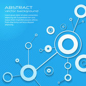 Astratto moderno della scienza con cerchi e linee. eps10 — Vettoriale Stock