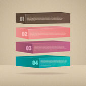 Modern infinite rectangle style number options banner. Step options, web design, infographics. — Stockvektor