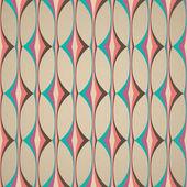 Pop art pattern, abstract seamless texture rhombus vector pattern — Stock Vector