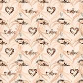 无缝咖啡图案。复古背景 — 图库矢量图片